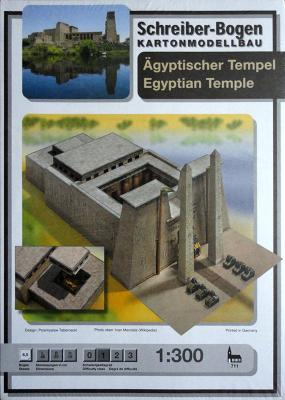 711   *  Agyptischer tempel egyptian temple  (1:300)    *  S-B