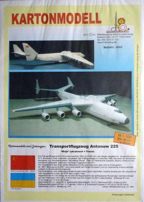 042   *   Transportflugzeug Antonow 225 (1:100)   *  MDK