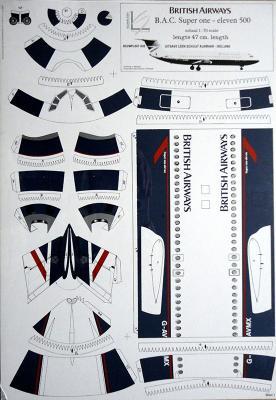 British Airways B.A.C. Super one - eleven 500 (1:70)    *   LEONY