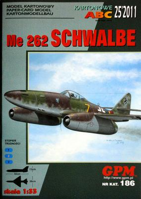 GP-298a   *   25\11\186   *   Me 262 Schwalbe (1:33)