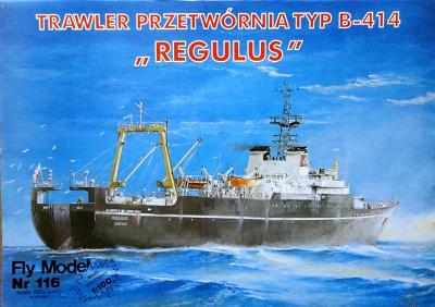 "FLy-116   *   Trawler przetwornia TYP B-414 ""Regulus"" (1:100)"