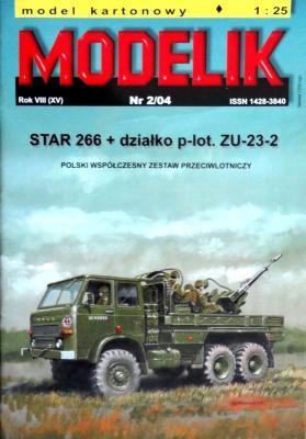 MOD-083    *   2\04    *   Star 266+dzialko p-lot. ZU-23-2 (1:25)
