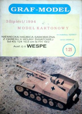 3/94    *   Ausf. G II Wespe (1:25)    *   GRAF