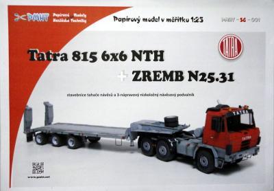 001b    *    Tatra 815 6x6 NTH +Zremb N25.31 (1:25)    *   PMHT