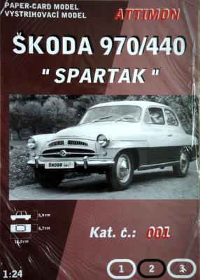 "001   *   Skoda 970/440 ""Spartak"" (1:24)    *   ATTIMON"