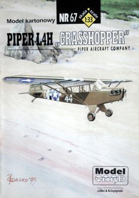 """67  *  Piper L4H """"Grasshopper"""" (1:33)  *  Mod-Card"""