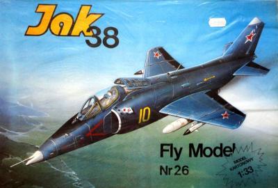 FLy-026a *  JAK 38 (1:33) Iизд.      +кабина
