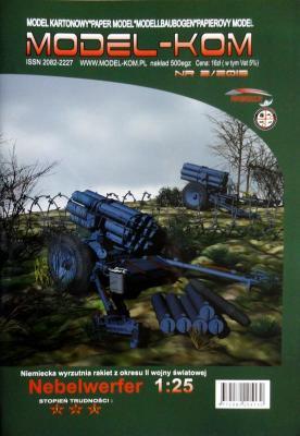 """006  *  2\13  *  Niemiecka wyrzutnia rakiet z okresu II wojny swiatowej """"Nebelwerfer"""" (1:25)  *  MOD-KOM"""