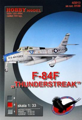 "Hob\M-109    *    F-84F ""Thunderstreak"" (1:33)"