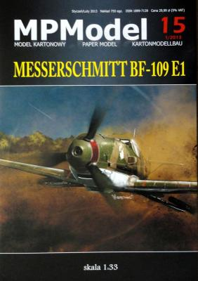 15   *   Messerschmitt BF-109 E1 (1:33)   *   MP