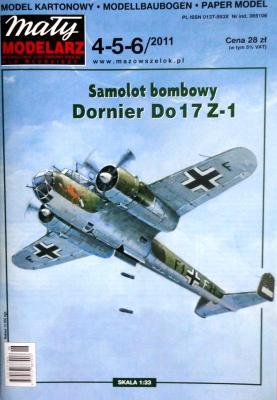 477   *   4-5-6\11  *  Samolot bombowy Dornier Do17 Z-1 (1:33)   *   Mal Mod