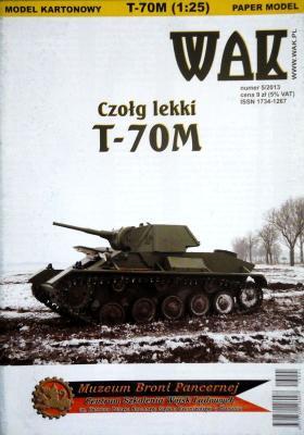WAK-095   *   5\13   *  Czolg lekki T-70M (1:25)