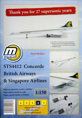 030    *   STS4412 Concorde British Airways & Singapore Airlines (1:150)   *   MEGA