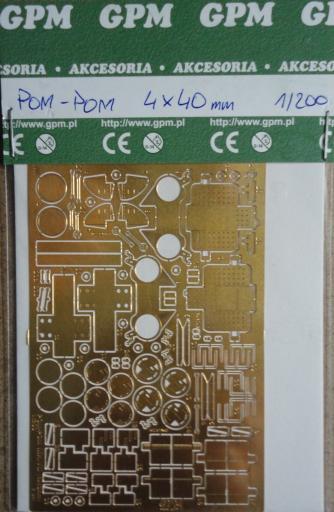 фототравление  POM-POM  Mk.VII  (4x40mm)  2шт.(1:200)   *   GPM