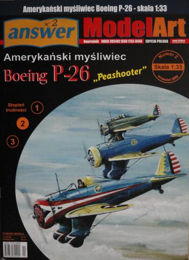 "007  *  2\05  *  P-26 Boeing ""Peoshooter""(1:25)  * ANSWER Mod Art"