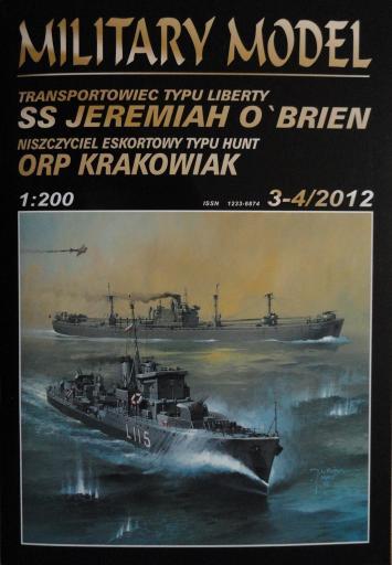 """035   *   3-4\2012   *   ssJEREMIAH  O""""BRIEN/ORP  KRAKOWIAK(1:200)   *  + резка +стволи  HAL  *  MM"""