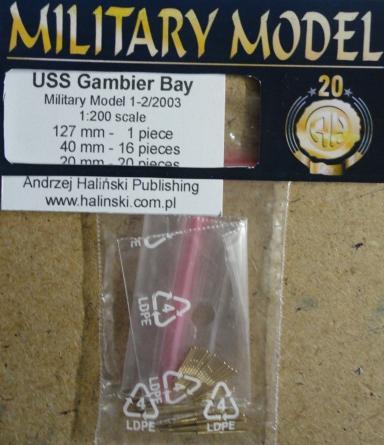 стволы USS  Gambier Bay(1:200)   *   HAL  1-2/2003