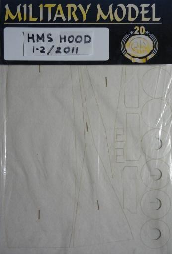 резка HMS  Hood(1:200)   *   HAL   1-2/2011