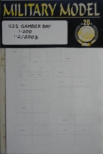резка USS Gambier  Bay(1:200)   *  HAL   1-2/2003