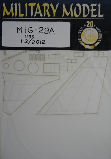 резка MiG-29A(1:33)   *   HAL   1-2/2012