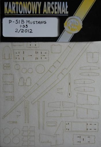 резка P-51 B  Mustang(1:33)   *   HAL   2/2012