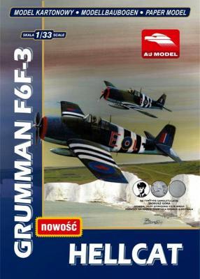 001   *    Grumman F6F-3 Hellcat (1:33)    *   AJ  MODEL