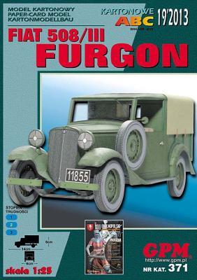 GP-356   *   19\13\371   *    Fiat 508/III Furgon (1:25)